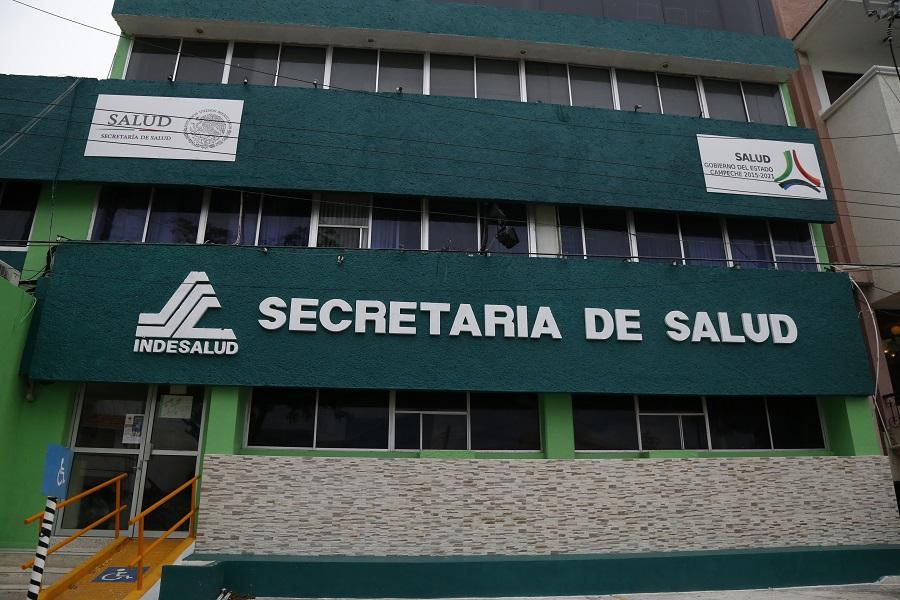 fachada de la secretaria de Salud Campeche